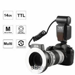 K&F Concept KF-150 i-TTL Macro Ring Flash Light Speedlite + 6 Adapters for Nikon