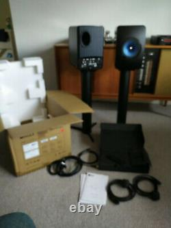 KEF LS50 Wireless Speakers Gloss Black/Blue