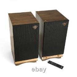 Klipsch The Sixes WALNUT Powered Bookshelf Speakers (1pr) B Stock