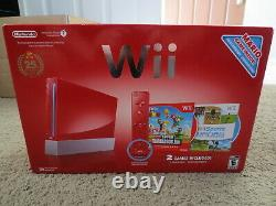 NEW Nintendo Wii Super Mario Limited Edition Red Console System 25th Anniversary