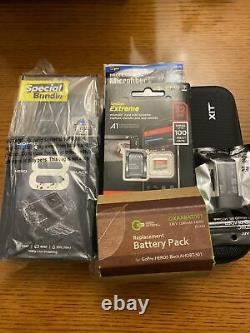 NEWithSEALED GOPRO HERO 8 BLACK (SPECIAL BUNDLE)! EXTRA BATTERY + ACCESSORIES