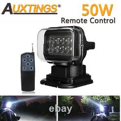 New Cree Remote Control Search LED Work Light Magnetic Spot Wireless 50W 12V 24V