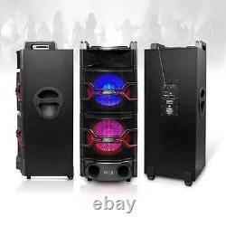 New PYLE-PRO PSUFM1235BT PA LOUDSPEAKER KARAOKE SYSTEM BT DJ Lights, MP3/USB/SD