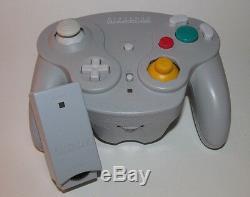 Nintendo Gamecube Wavebird Wireless Remote Controller with RECEIVER Gray / Grey