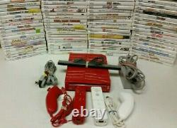 Nintendo Wii Console Games 2 sets AUTHENTIC controllers SAME DAY SHIPPING