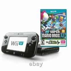 Nintendo Wii U 32 GB Black Console + New Super Mario Bros Same Day Dispatch
