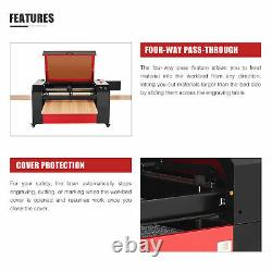 OMTech CO2 Laser Engraver with Ruida Controls Autofocus 28x20 Motorized Bed 80W