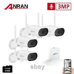 Outdoor Wireless Security System IP Camera with 3MP NVR Home Surveillance Kit IR