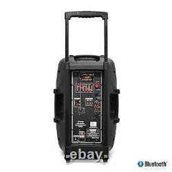 PPHP152BMU 15 1000W Portable Bluetooth Speaker FM Radio With Microphone