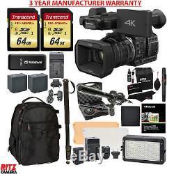 Panasonic HC-X1000 4K-60p/50p Camcorder Vidpro Microphone MANUFACTURER WARRANTY