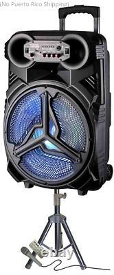 Party Speaker Rechargeable Speaker With Stand & Microphone 6000 Watts Bluetooth