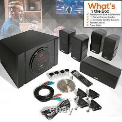 Pyle 5.1 Channel 300W Home Theater System with Surround Sound Speakers(Open Box)
