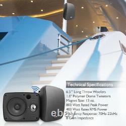 Pyle PDWR64BTB Waterproof & Bluetooth 6.5'' Indoor /Outdoor Speaker System Black