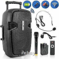 Pyle Portable Bluetooth Loudspeaker Active PA Speaker System Kit Rechargeable