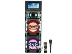 QFX SBX-212W 2 x 12 Karaoke PA Speaker +11.6 Wi-Fi LCD +Bluetooth+USB/SD/FM/EQ