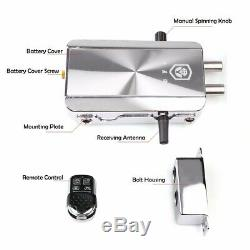 Remote Control Door Lock Wireless Electronic Anti-theft Home Security Access