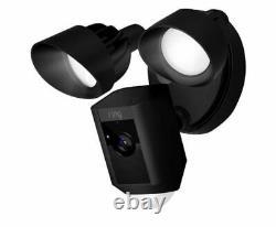Ring Floodlight Camera Security Camera Indoor/Outdoor 8SF1P7-BEN0 Black