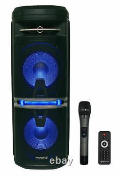 Rockville Go Party X10 Dual 10 Battery Powered Bluetooth Speaker+UHF Microphone