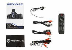 Rockville Hybrid Home Theater Karaoke Machine System with5.25 Sub+2 Wireless Mics