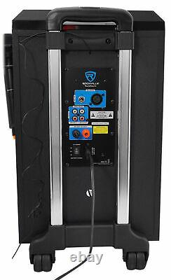 Rockville ROCKnGo 10 Powered Rechargeable PA Speaker w Bluetooth+ Wireless Mic