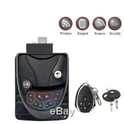 Rv Keyless Entry Door Lock Handle Latch Knob 20M Wireless Remote Control fo J2L5