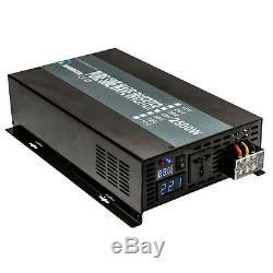 Solar Pure Sine Wave Inverter 2500W 12/24V to 120/220V Remote control Off Grid