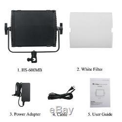Tolifo HS-600MB Camera LED Video Light 2.4G Wireless Remote Control Studio Panel