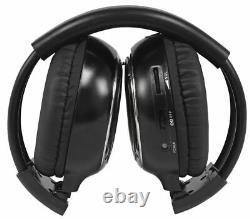 Tview T257IR-BK 25 Black Flip Down Wide Screen Car Monitor+2 Wireless Headsets