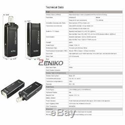 US Godox 2.4 TTL 1/8000s Two Heads AD200 200W Flash With Godox AD-S7 Softbox Kit