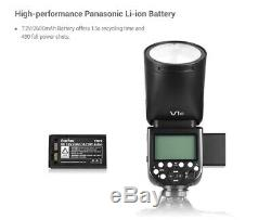 US Godox V1-C 2.4G Wireless Round Head Camera Flash for Canon 6D 7D 50D 60D 500D