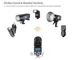 US Godox V1-C TTL Round Head 2.4G Wireless HSS 1/8000s Camera Flash for Canon