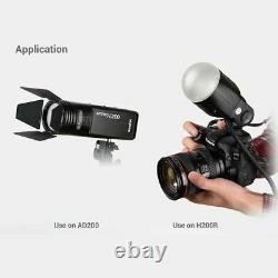 US Godox V1-N TTL HSS 1/8000s Camera Flash + AK-R1 Flash Accesories for Nikon