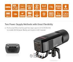 US Stock Godox AD400Pro WITSTRO 2.4G TTL HSS All-in-One Outdoor Flash Speedlite