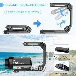 Video Camera 2.7K Camcorder Ultra HD 36MP Vlogging Camera for YouTube IR Night