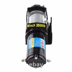 Wireless 3500lb 12V Electric Recovery Winch Truck SUV Durable Remote Control 4WD