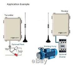 Wireless Pump Control Tank Well, Gates, Lights, Remote System Switch 1 Channel