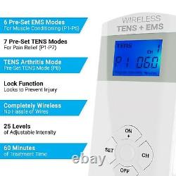 Wireless TENS Unit + EMS Therapeutic Wearable System, # ET-5050 by iReliev