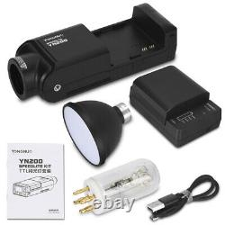 YONGNUO YN200 TTL HSS 200W With Battery Outdoor Flash for Canon Camera