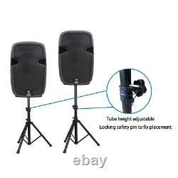 12 2000w Powered Pa Haut-parleurs Actifs Paire De Haut-parleurs Karaoké À 2 Voies Supports De Haut-parleurs Wired MIC