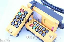 12-415v 2 Émetteur 10 Canaux Industrial Wireless Crane Hoist Remote Control