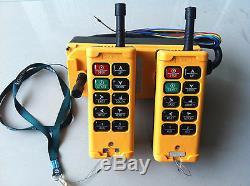 12-415v 2 Émetteur 10 Canaux Sans Fil Industriel Grue Hoist Contrôle À Distance