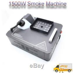 1500w Fog Machine Rgb Led DMX Scène Éclairage De Fumée Sans Fil Controler Disco Voir