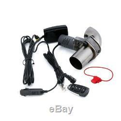 2.5 ' ' Électrique De Commande De Soupape D'échappement Tuyeau Cut Out Catback Télécommande Sans Fil
