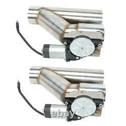 2 Double Électrique Échappement Coupe-circuit Télécommande Sans Fil Dump Valve Kit X2 De Dérivation