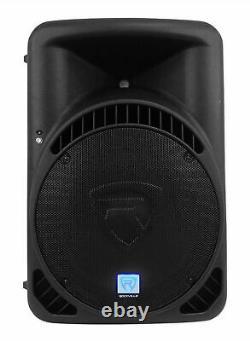 (2) Rockville Rpg15bt 15 1000w Haut-parleurs Dj Pa Powered Bluetooth, Lien Sans Fil