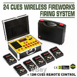 2020new + 24 Queues Système De Tir De Feux D'artifice Fcc + 1200 Queues Ce Télécommande Sans Fil