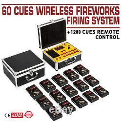 2020new + 60 Cues Système De Tir Des Feux D'artifice Fcc + 1200cues Ce Télécommande Sans Fil Controll