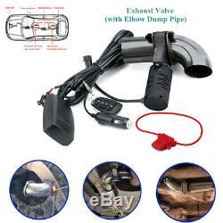 2electric De Soupape D'échappement De Contrôle Tuyeau Partie Cut Out Catback Télécommande Sans Fil
