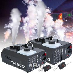2pcs 1500w DMX Up Plan Machine À Brouillard Brumisateur Upspray Fumée Verticale Avec Contrôle