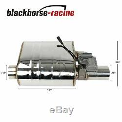 2pcs 2.5tips Silencieux D'échappement Valve Coupe-circuit Avec Un Télécommande Sans Fil